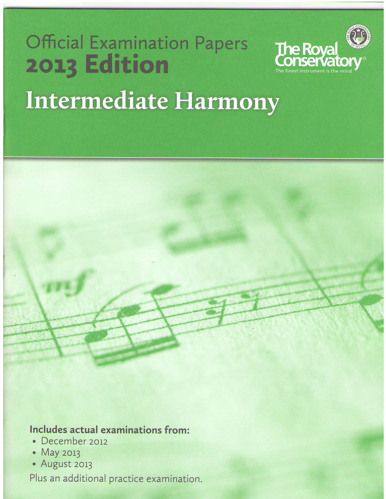 intermediate rudiments official examination papers The royal conservatory official examination papers are the best possible tools for building a student's confidence in preparation for writing theory examinations.